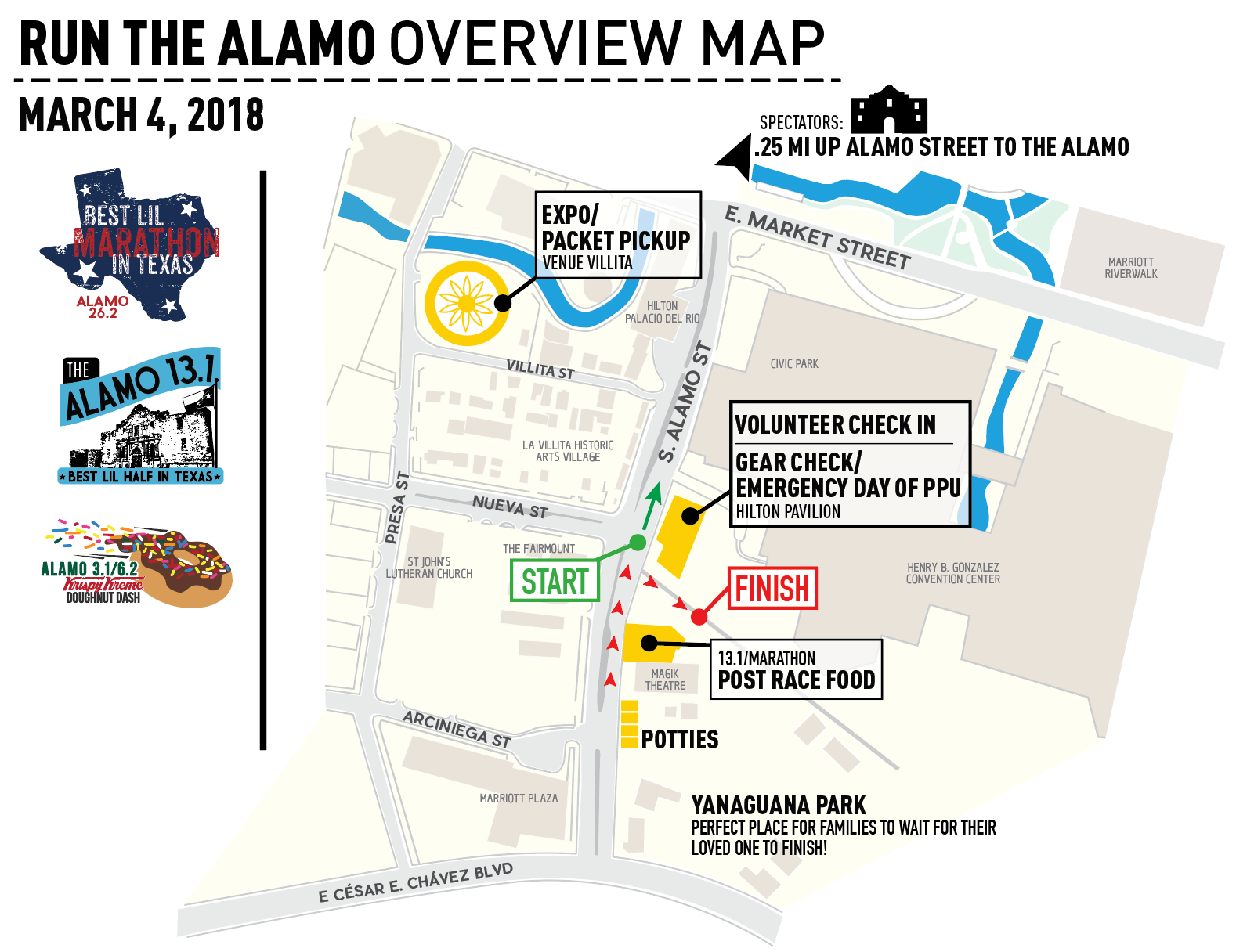 2018 Run The Alamo-Overview map