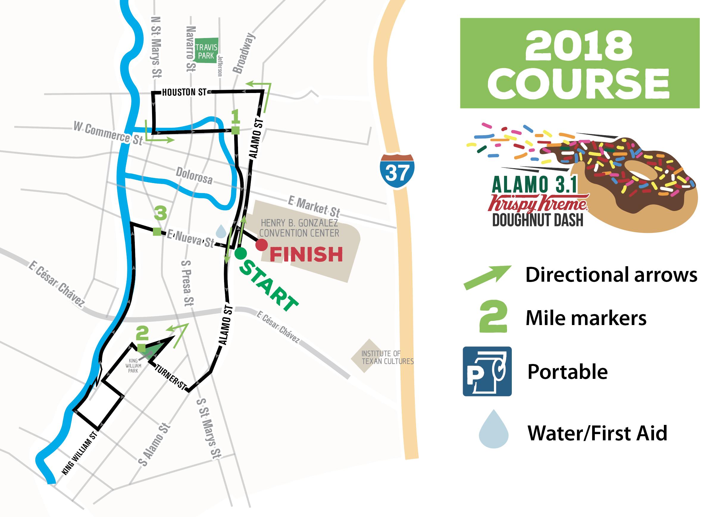 Alamo 3.1 course map